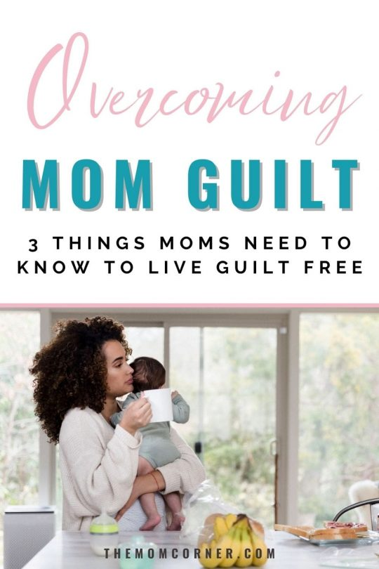 Wondering how to stop mom guilt? We're all busy moms, and none of us has time to get bogged down with guilt. These actionable tips will help you let go of mom guilt and live guilt free while parenting your children. #momlife