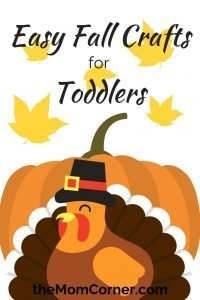 Easy Fall Crafts for Toddlers. Check out these three easy crafts for toddlers! Have a great time making fall themed crafts with easy to make and easy to cleanup crafts.