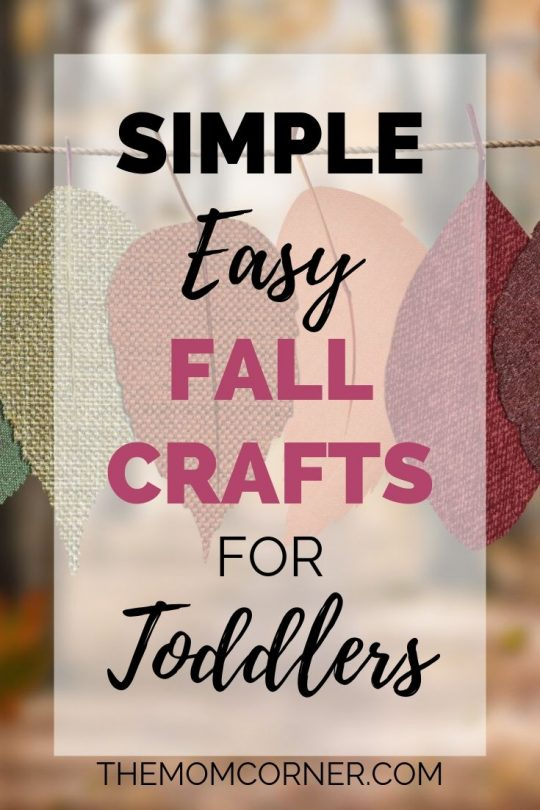 Simple Easy Fall Crafts For Toddlers. These three fall crafts are perfect for a one year old to preschool, and are easy to make. Plus, get the free printable to make crafts involving leaves, pumpkins, and turkeys.