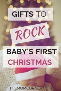 Gifts to Rock Baby's First Christmas. Awesome Christmas gift ideas for babies to celebrate baby's first christmas. #giftideasforbaby #babygiftideas #christmasgiftideas #babysfirstchristmas