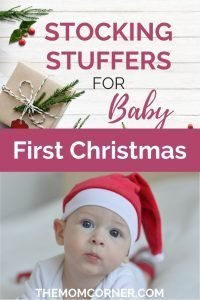 Stocking Stuffers for Babies. Check out this great list of Christmas stocking stuffers for baby to rock baby's first Christmas.