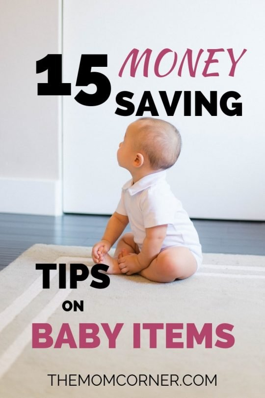 Wondering how to save money on baby items? Check out these fifteen tried and true tips on saving big money on day to day baby items like diapers and clothes