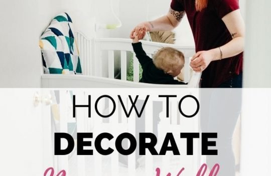 How To Decorate Nursery Walls While Renting. Check out these ideas to decorate your nursery walls even if you're renting an apartment or house.