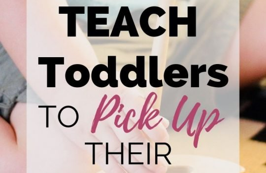 Tips To Teach Toddlers To Pick Up Their Toys. Wishing your little one would clean up his toys? Wondering if your will ever be able to keep a clean house with a toddler? Check out these tips to teach your kids to pick up their own toys, even as toddlers.