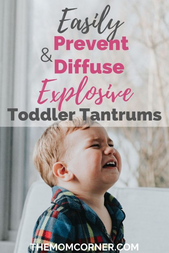Easily Prevent And Diffuse Explosive Toddler Tantrums. Need tips on handling and dealing with toddler tantrums? Whether your toddler is one year old or in their terrible twos, these easy tips will walk you through what to do to calm your toddler down and diffuse even their worst tantrums.