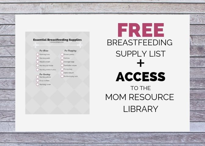 breastfeeding supply list