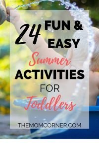 24 Fun & Easy Summer Activities for Toddlers. Looking for fun, outdoor summer activities for toddlers? Check out this summer bucket list, perfect for babies, toddlers, and moms.