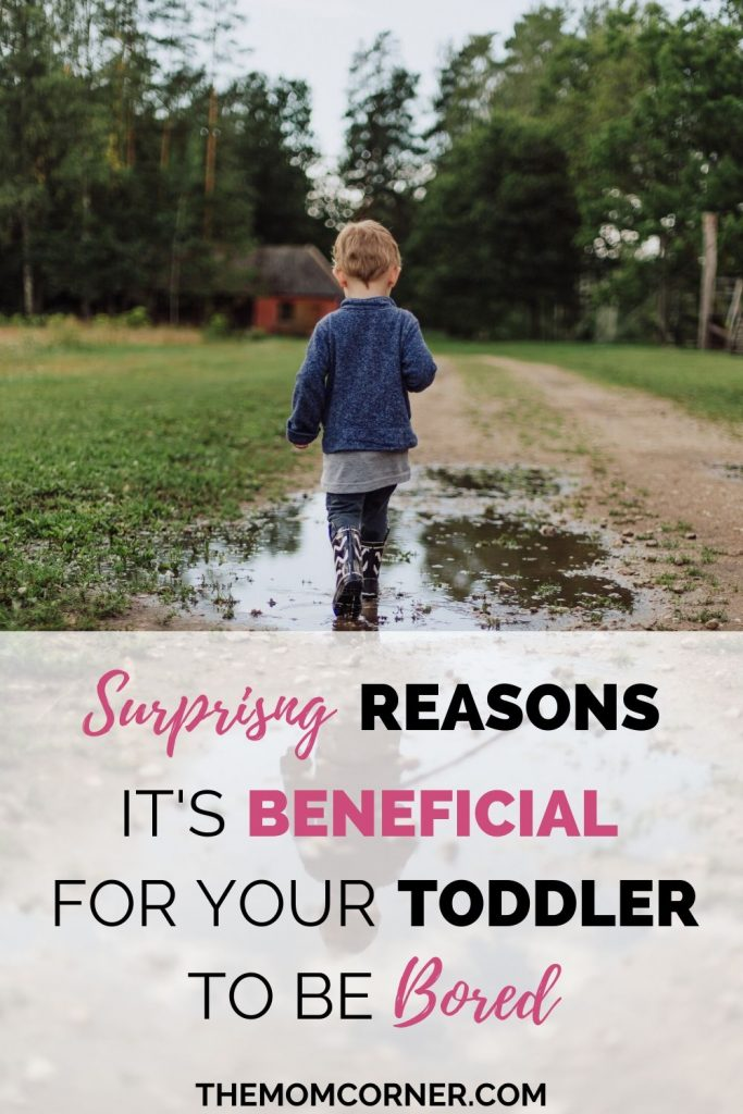 Surprising Reasons It's Beneficial For Your Toddler To Be Bored. Looking for things to do with your bored toddler? It may surprise you that there are actually benefits to allowing your toddler to be bored! And, get some indoor activities suggestions for the next time your toddler claims boredom.
