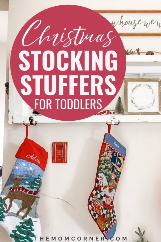The best stocking stuffers for toddlers. From a year old and up, these cheap, creative stocking stuffers are perfect for boys and girls.