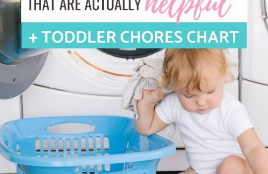 Ideas for toddler chores perfect for a two year old. Plus, get a free printable toddler chore chart pack, including a chart with pictures.