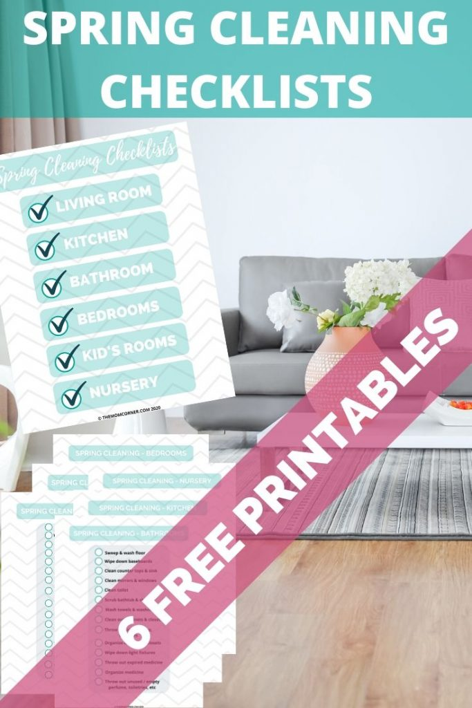 Grab your free spring cleaning checklist printable to help you busy moms deep clean and declutter their homes--even with little kids. These simple and easy check lists will walk you through cleaning room by room, perfect for moms with kids.