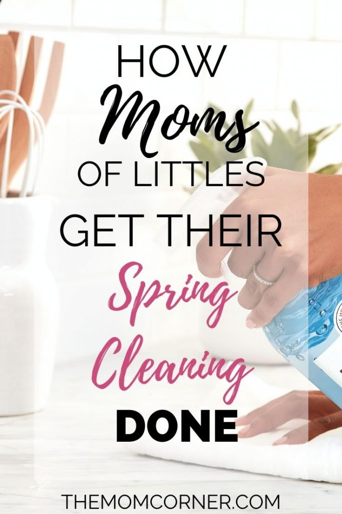 How Moms Spring Clean. Tips for spring cleaning when you're a mom of little kids. Plus, grab your free printable checklist pack and get six room by room cleaning and decluttering check lists to help you easily get it all done.