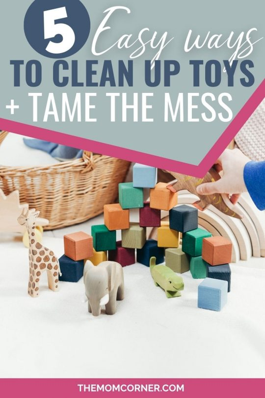 Feel like you're always cleaning up toys? These easy tips will help you keep the toy mess to a minimum and tame the toddler mess in your house.