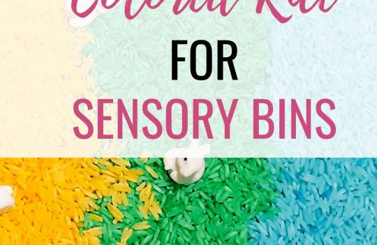 How To Easily Make Colored Rice For Sensory Bins. Wondering how to make colored rice for your sensory bin? Rainbow rice makes great DIY activities for your toddler to learn through play.
