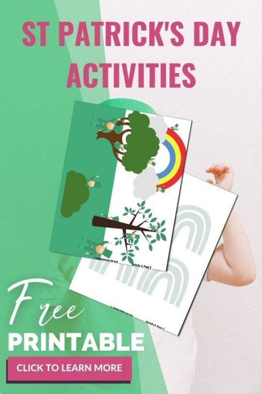 Easy st patrick's day activities for toddlers. Perfect for preschool age and toddlers, this free printable includes six fun themed activities for st patricks day.