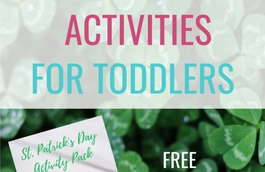 6 Easy St Patrick's Day Activities For Toddlers. Easy activities for toddlers to do on St Patrick's Day, including the free printable!