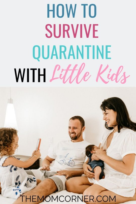 How To Survive Quarantine With Little Kids. Wondering what to do during a quarantine? Check out these things to do while quarantined with little kids, to keep your sanity. And, get fun activities for kids to help pass the time.