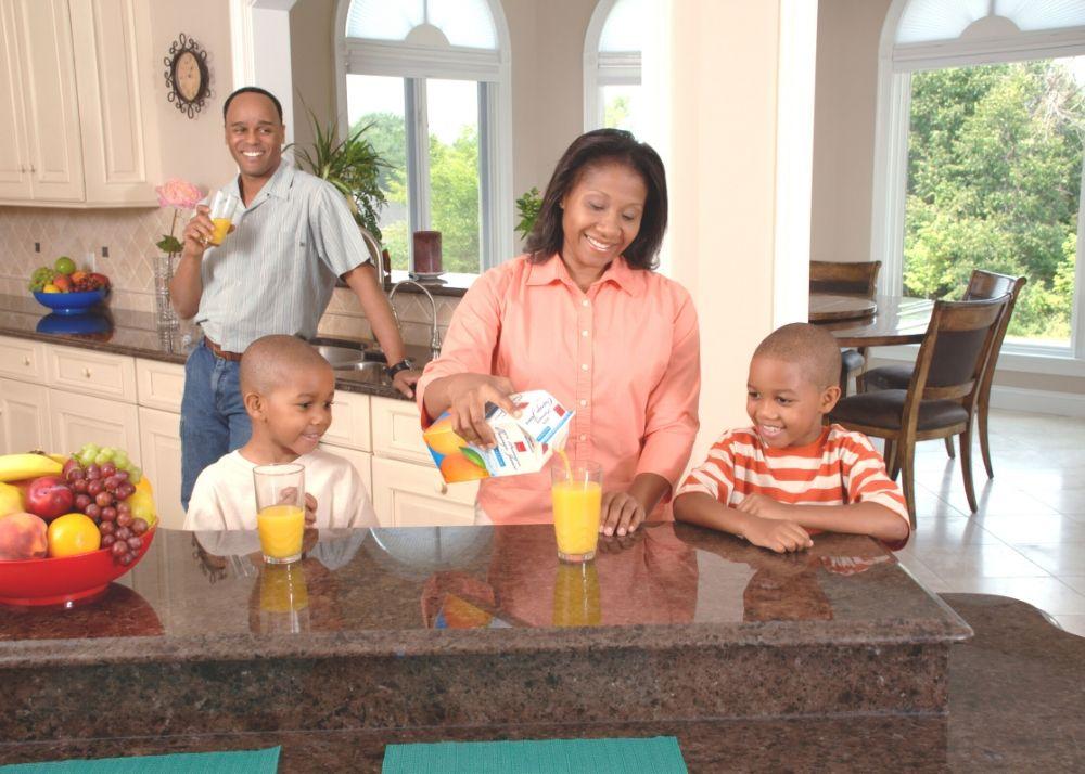 kids drinking juice during quarantine