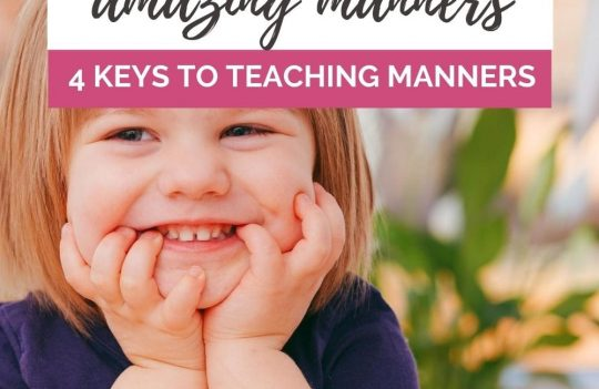 Ready to start teaching your toddler manners? Knowing how to teach toddler manners starts with knowing what manners your toddler should know. Once you know which manners your toddler should be learning, use these 4 keys to help you help your child develop amazing manners.