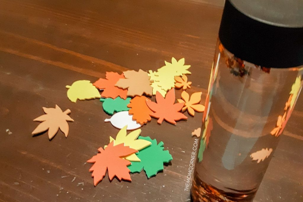 autumn leaf sensory bottle