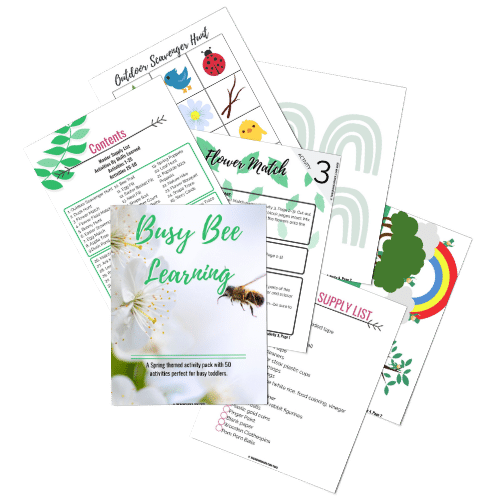 busy bee learning activity pack