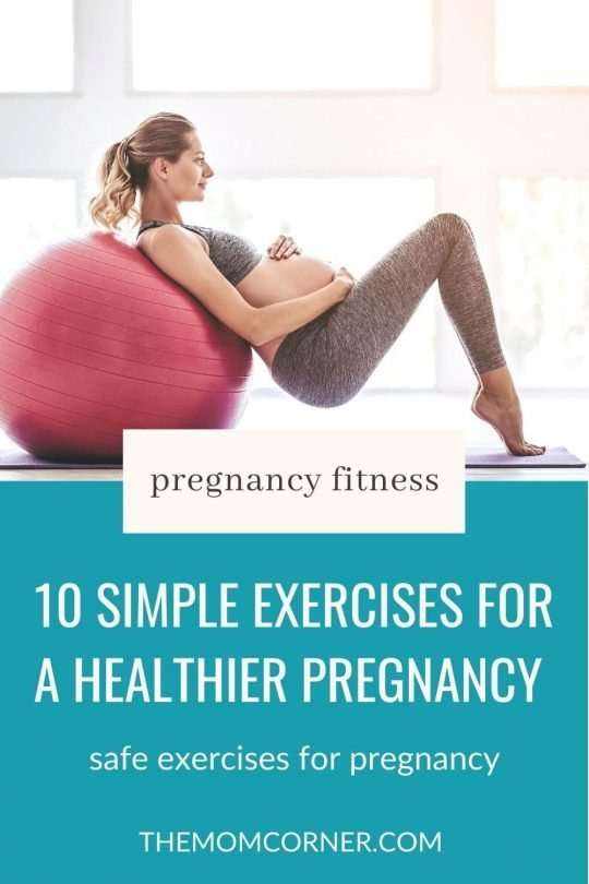 Ten simple exercises for pregnancy, in the first trimester, second trimester, and third trimester. These exercises for pregnant women can be done at home or outdoors. Safe pregnancy workouts help strengthen the body and keep you fit through pregnancy. #pregnancyexercises #exercisesforpregnancy #pregnancy