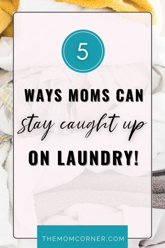 Are you a new mom wondering how to catch up on laundry? Babies and toddlers can bring a ton of laundry, from little clothes to cloth diapers. Laundry can quickly become overwhelming! Here's how to catch up on laundry and stay on top of it for good. #homemakingformoms #newmomtips #momtips #momlife